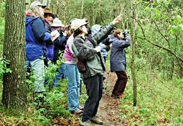 Birders in the Kickapoo Valley Reserve.