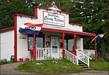 A candy shop in Knife River.