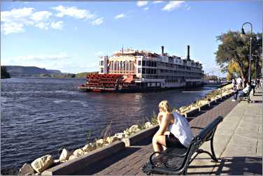 Mississippi Queen in La Crosse Wisconsin.