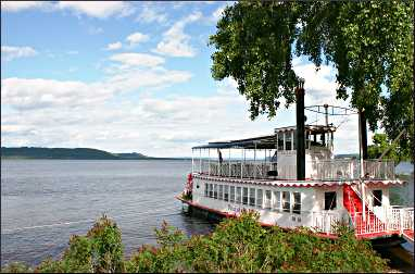 The Pearl of the Lake cruise boat.