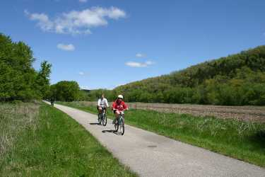 Bicycling on the Root River Trail.