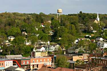 A blufftop view of Lanesboro.