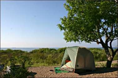 A campsite in Leelanau State Park.