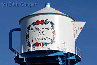 The watertower in Londstrom, MN