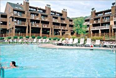 The pool at Lutsen's Caribou Highlands resort.