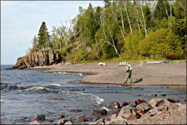 Fishing at Lutsen Lodge.