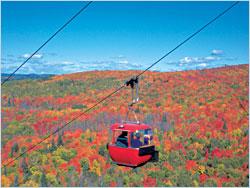 A gondola on Lutsen Mountains.