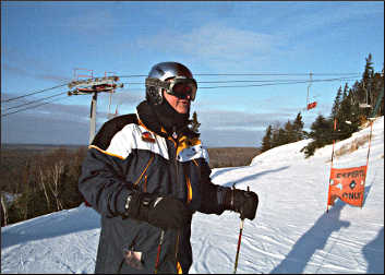 Ski instructor at Lutsen.