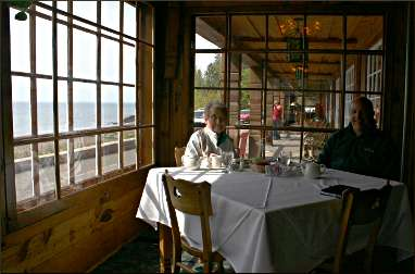 The restaurant at Lutsen lodge.