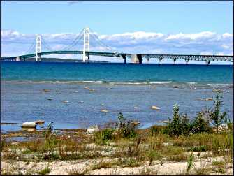 Mackinac Bridge in Michigan.