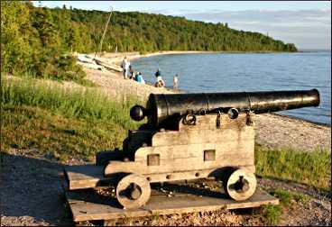 British Landing on Mackinac Island.
