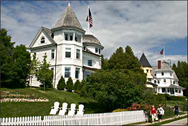 Mansions on Mackinac Island.