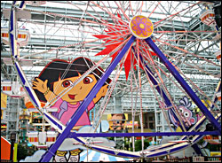 Theme park at Mall of America.