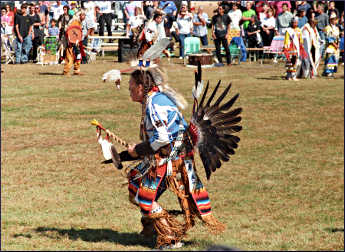 A dancer at a powwow.