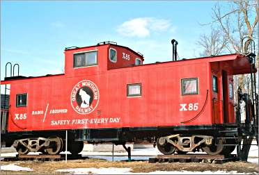 A live-in caboose at Maplelag.