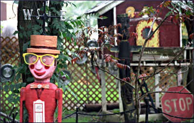 Dan Slaughter's folk art in McGregor.