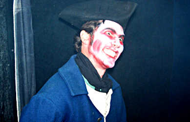 A Redcoat ghoul at Fort Michilimackinac.