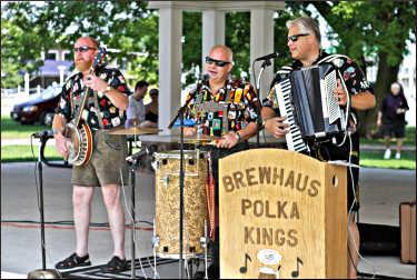 Brewhaus Polka Kings at a beer festival.