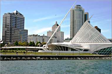 Milwaukee Art Museum on Lake Michigan.
