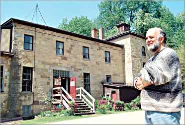 Tom Johnston at his Mineral Point studio, an 1850 stone brew