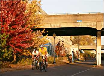 Midtown Greenway in Minneapolis.