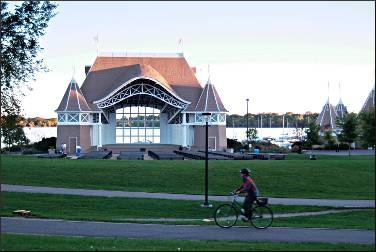 The bandshell at Lake Harriet.