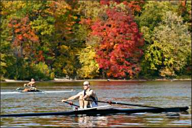 Rowing on the Mississippi.