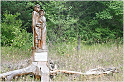 A memorial to Minnesota River Valley settlers.