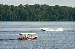 Boats on Lake Minocqua.