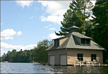 Craftsman boathouse.