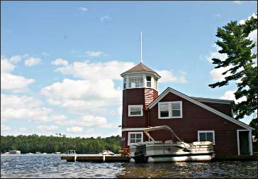 Eage's Nest boathouse.
