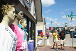 Shopping in downtown Minocqua.