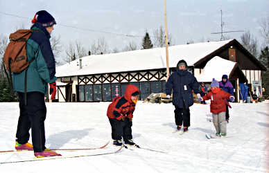 Ski lessons at Winter Park.