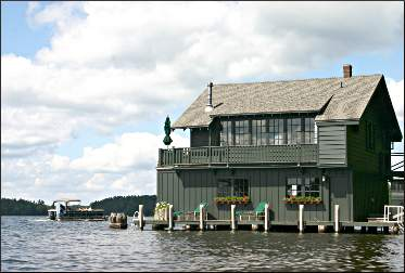 A historic boathouse in Minocqua.