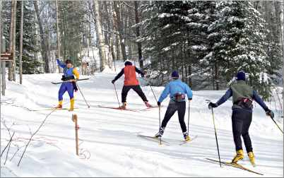 Skate-skiers at Minocqua Winter Park.