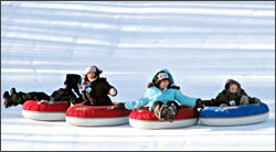 Tubing at Minocqua's Winter Park.