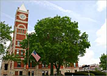 Courthouse Square in Monroe, Wis.