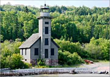 Grand Island lighthouse near Munising.