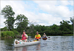 Canoeing on the Namekagon.