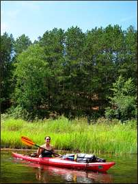 Kayaking on the Namekagon River.