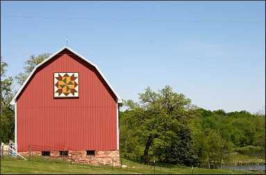 Barn quilt in Iowa.
