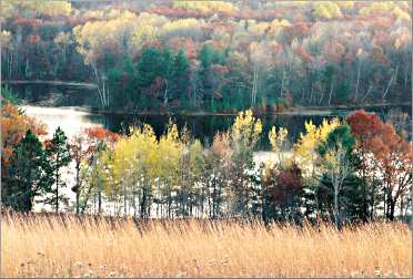 A kettle lake at the Chippewa Moraine center.