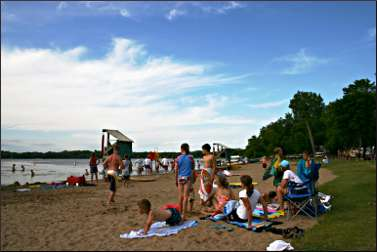 The beach on Games Lake.