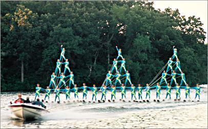 Water skiers in New London, Minn.
