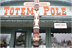 Totem Pole in Nisswa.