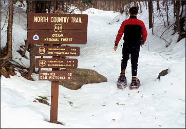 North Country Trail on the Black River.