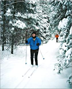 Skiers on the North Shore's Sugarbush system.