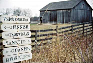 A signpost at Old World Wisconsin.