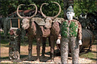 Sculptures in Wisconsin Concrete Park.