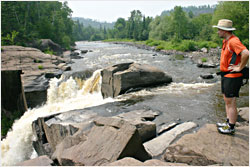 Top of High Falls on Pigeon River.